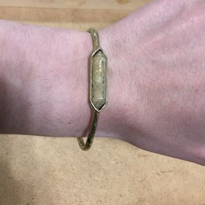 Lucky Brand Bangle in Distressed Gold